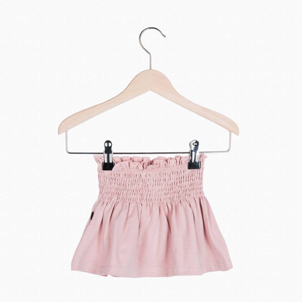 Smocked Skater Skirt - Powder Pink (NEW)