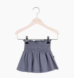 Smocked Skater Skirt - Vintage Grey (NEW)
