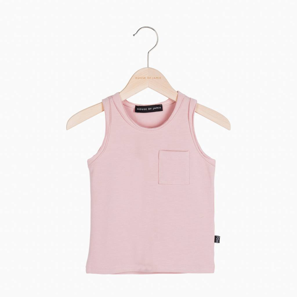 Tanktop - Powder Pink (pink pocket) (NEW)