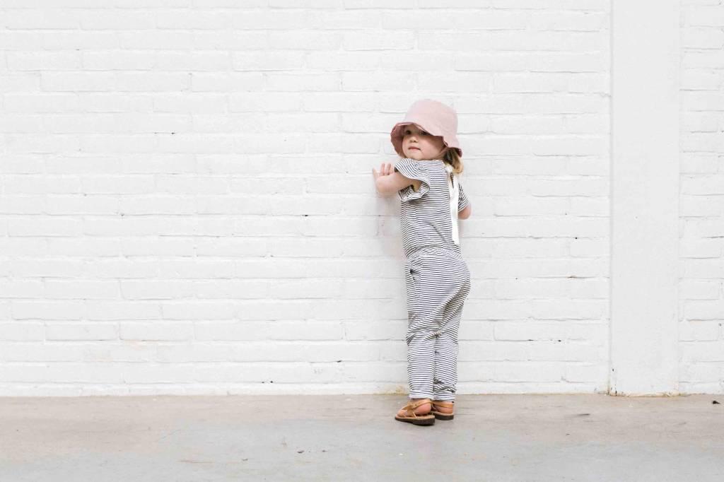 Ruffled Jumpsuit - Little Stripes (NEW)