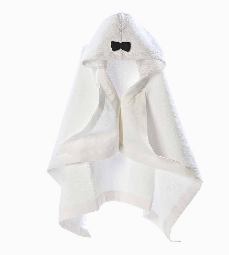 Hooded Baby Towel - Black & White