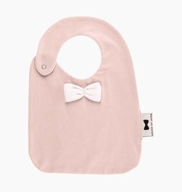 Bow Tie Bib - Powder Pink
