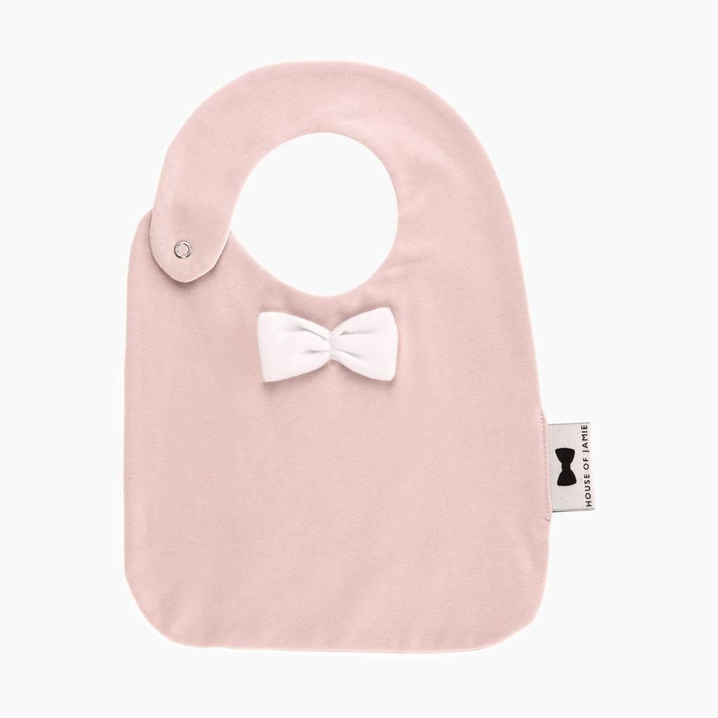 Bow Tie Bib - Powder Pink