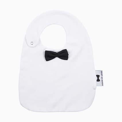 Bow tie bib - Black & White