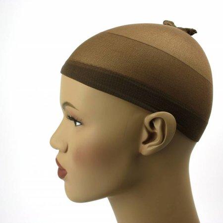 Wig cap bruin (Per stuk)