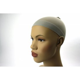 Wig cap grijs (per stuk)