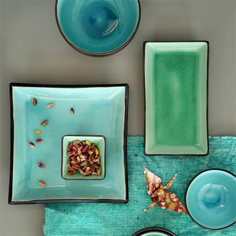 tokyo design studio glassy turquoise 6 teiliges sushi. Black Bedroom Furniture Sets. Home Design Ideas