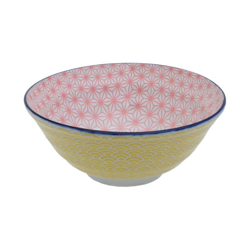 Tokyo Design Studio Star Wave Bowl Ø 21 Cm Pink Yellow