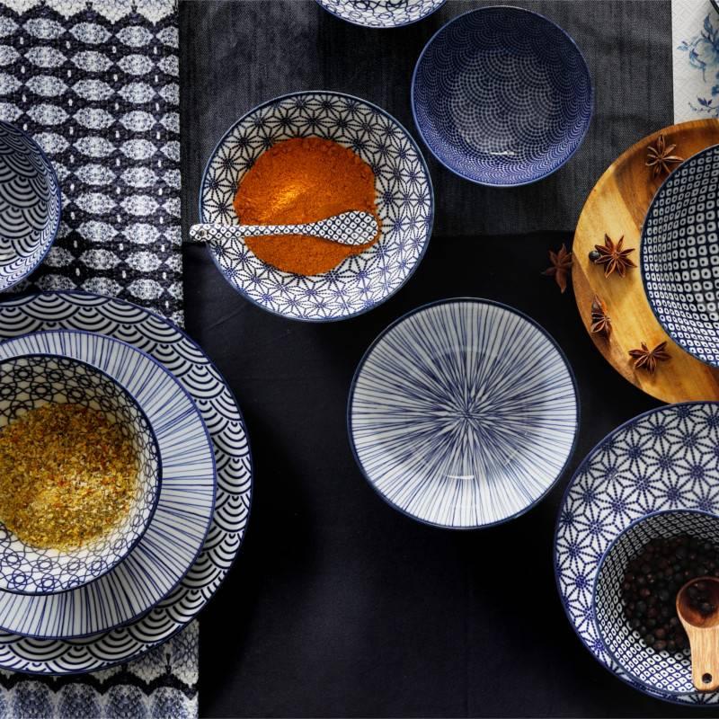 tokyo design studio new nippon blue kom 21 cm cookdine. Black Bedroom Furniture Sets. Home Design Ideas