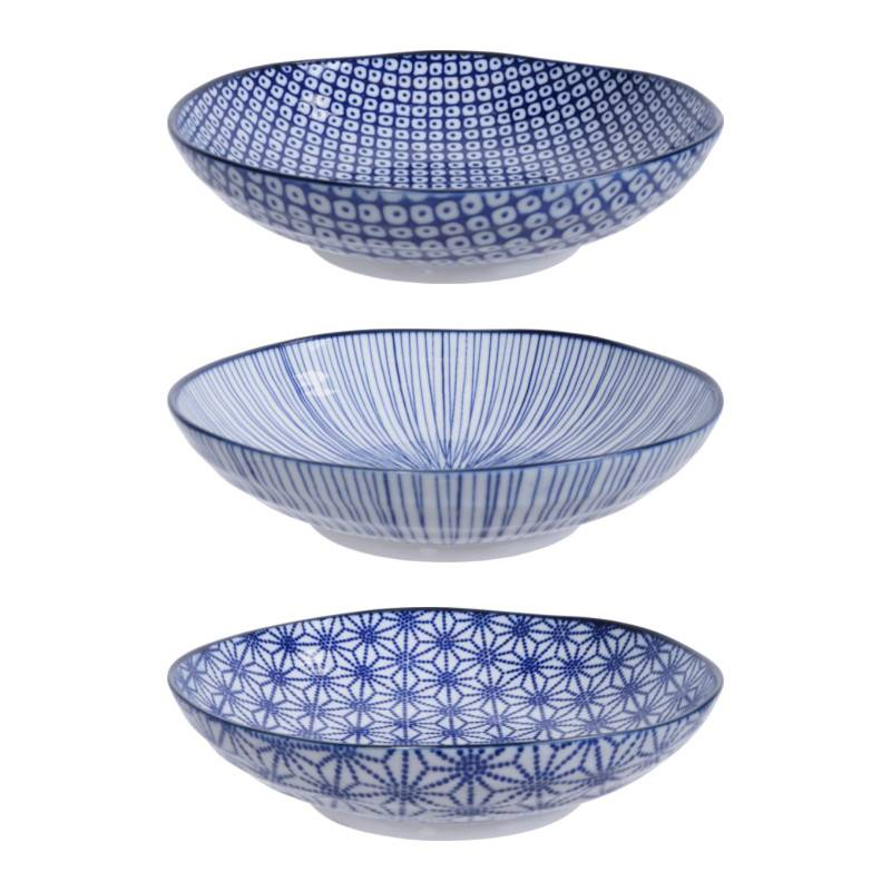 Tokyo Design Studio Tokyo Design Studio New Nippon Blue Set of 3 Pasta Plates Ø 21 ...  sc 1 st  cookdine.shop & Tokyo Design Studio New Nippon Blue Set of 3 Pasta Plates Ø 21 cm ...