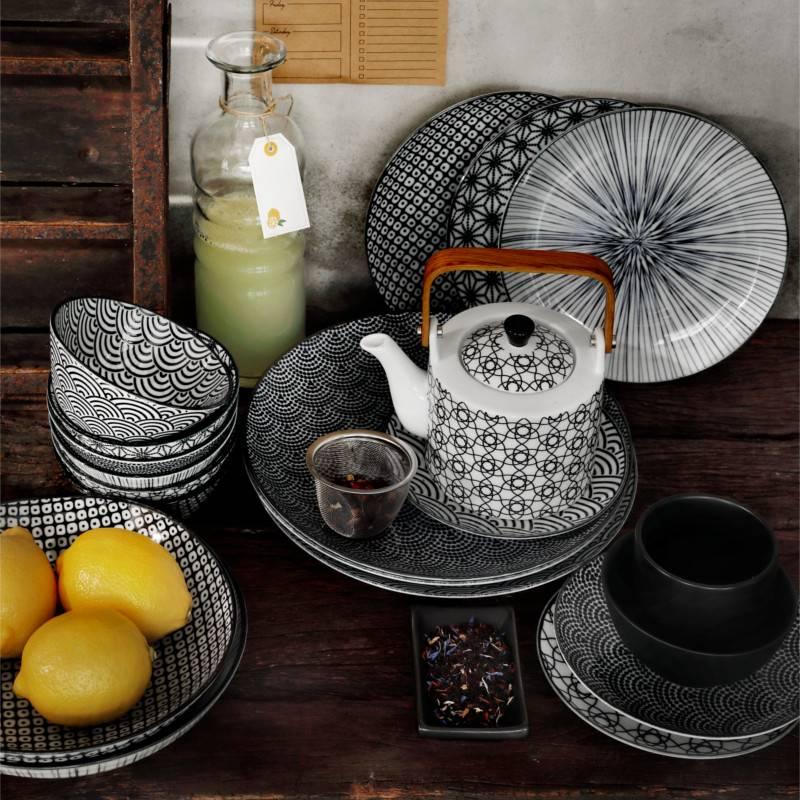 tokyo design studio new nippon black pastabord 21 cm. Black Bedroom Furniture Sets. Home Design Ideas