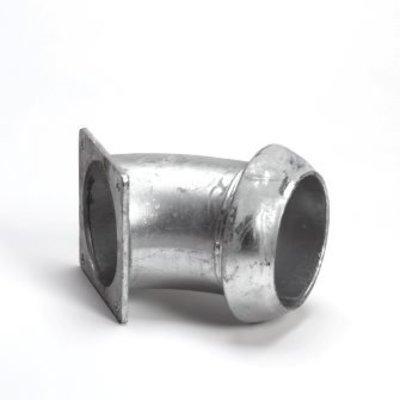 Cardan V-deel bocht 45º x vierkantflens 159mm x 6''