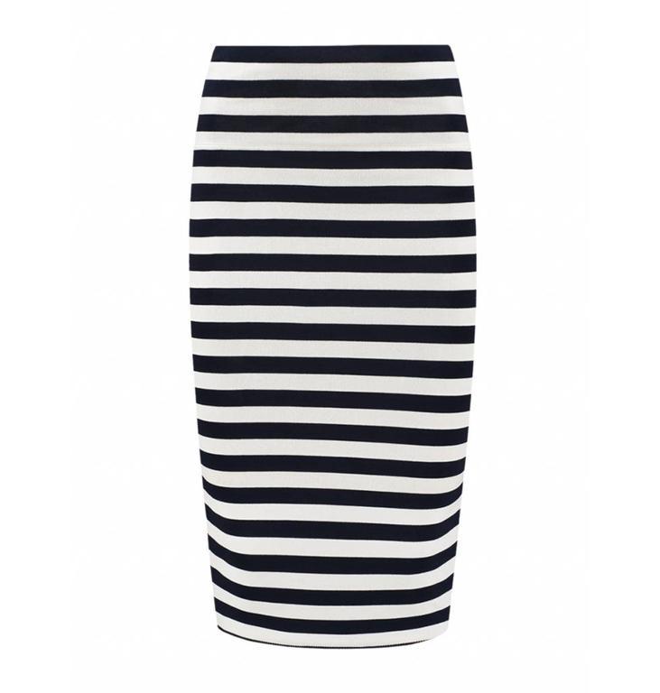 Nikkie Navy/ Soft White Jenny Jillian Skirt N7799