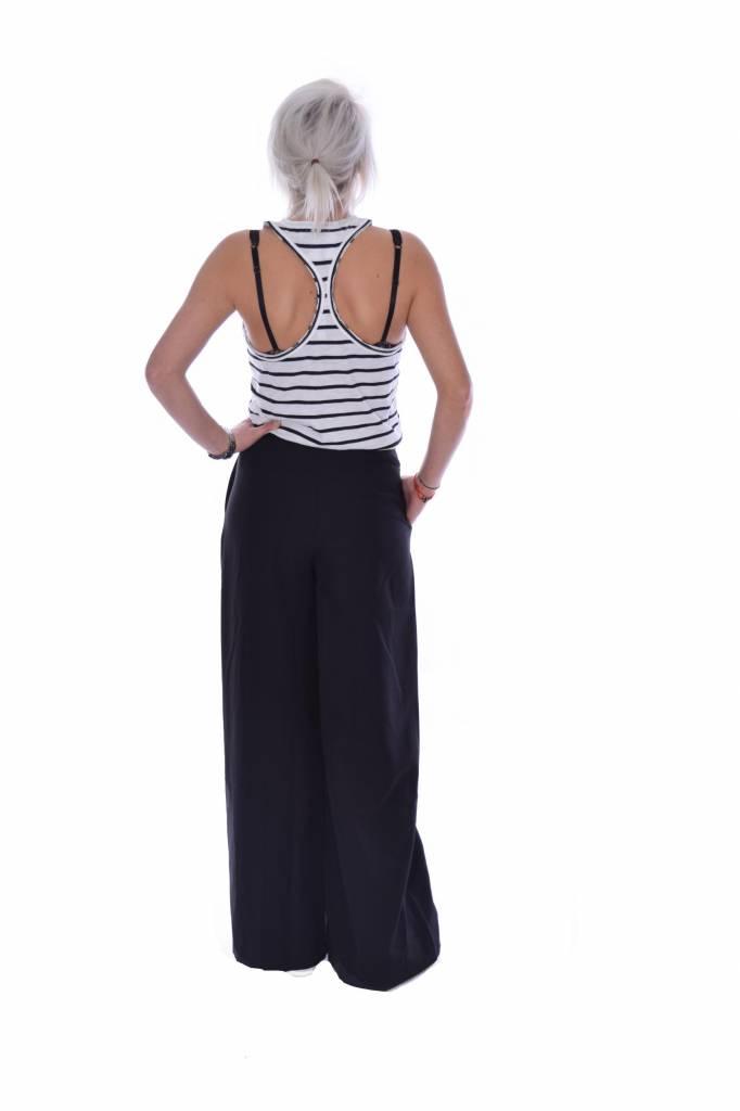 10Days Ecru/Black Singlet Stripe Slub 20.727.7101