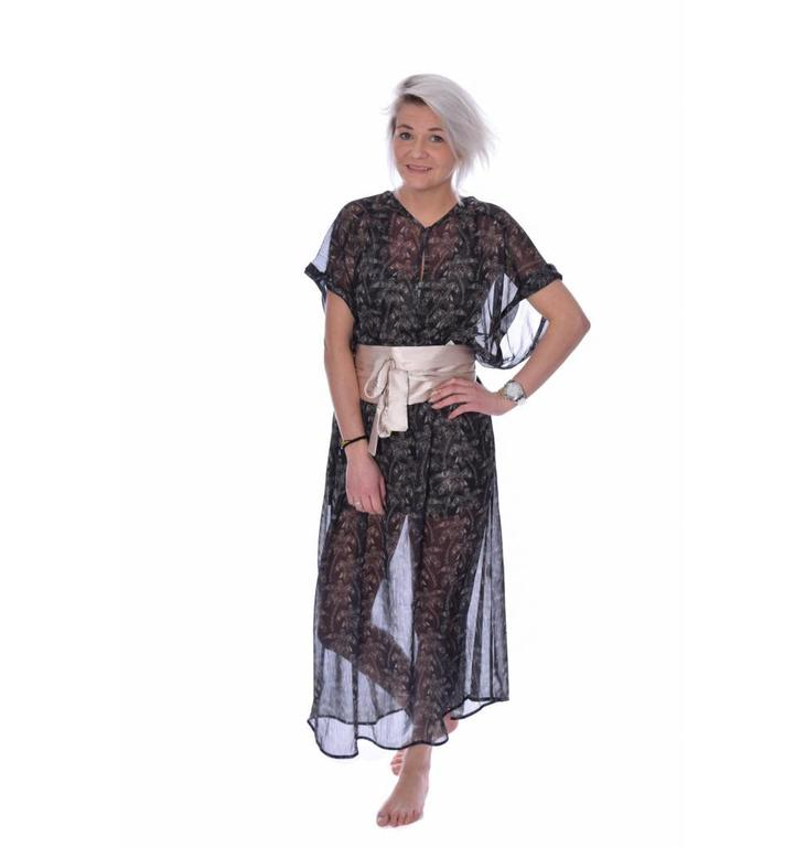 10Days Charcoal Palmtree Kaftan 20.300.7101