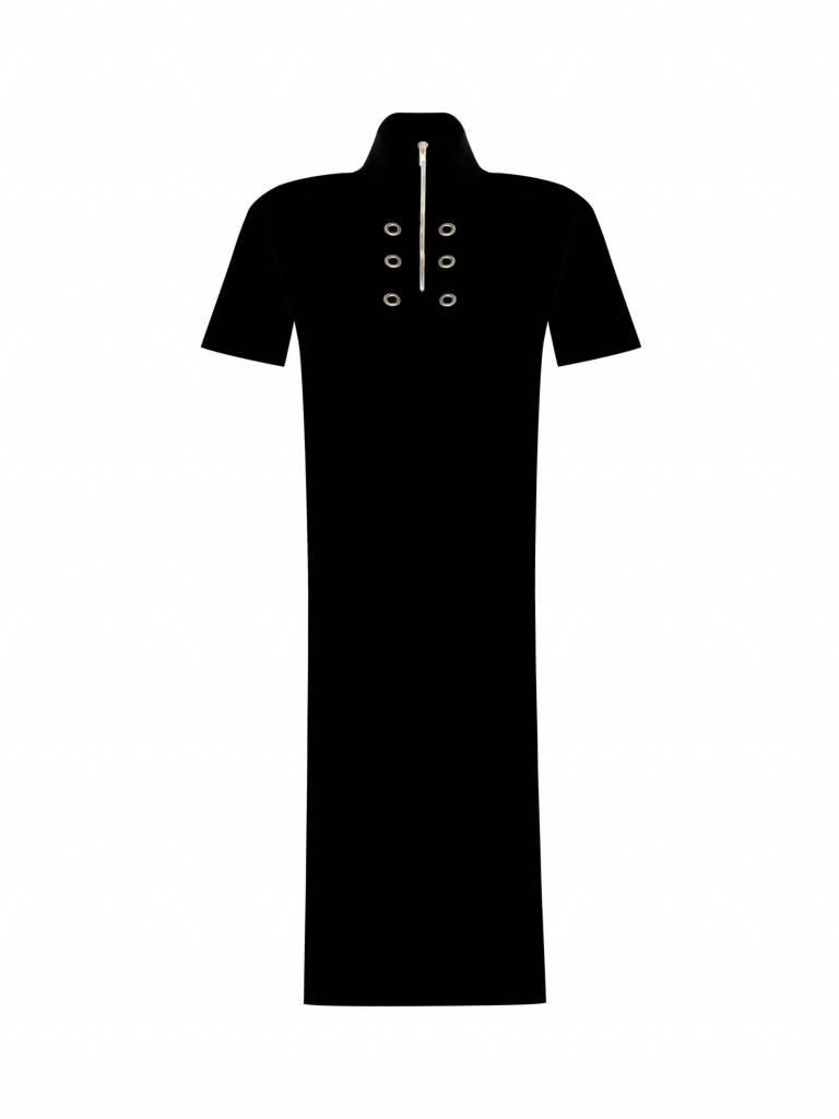 10Days Black Pique Dress 20.308.7101
