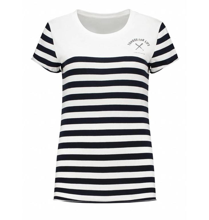 Nikkie Navy/ Soft White Tomboy For Life T-shirt N6842