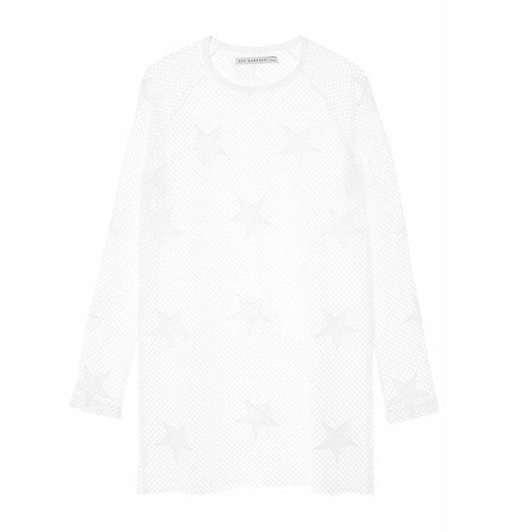 Zoe Karssen White Transparant Tee Stars SS171081