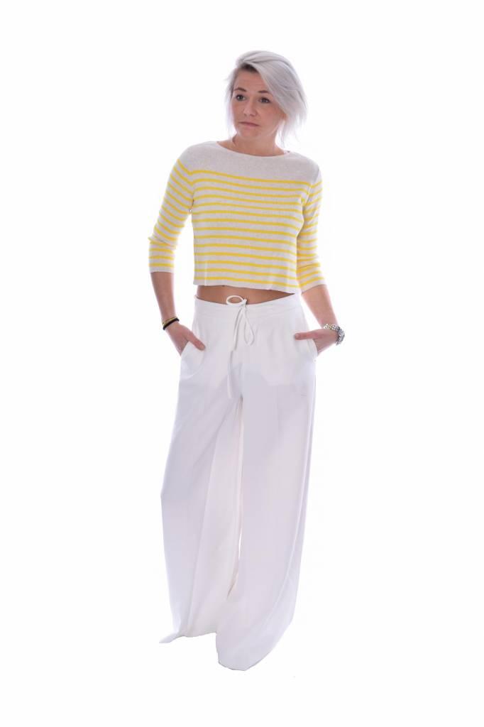 10Days Ecru High waist wide leg pants 20.035.7101