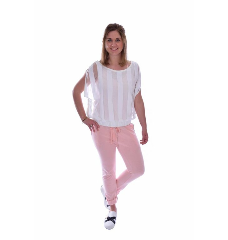 10Days Lucky Pink Oversized Beached Jogger 20.050.7101