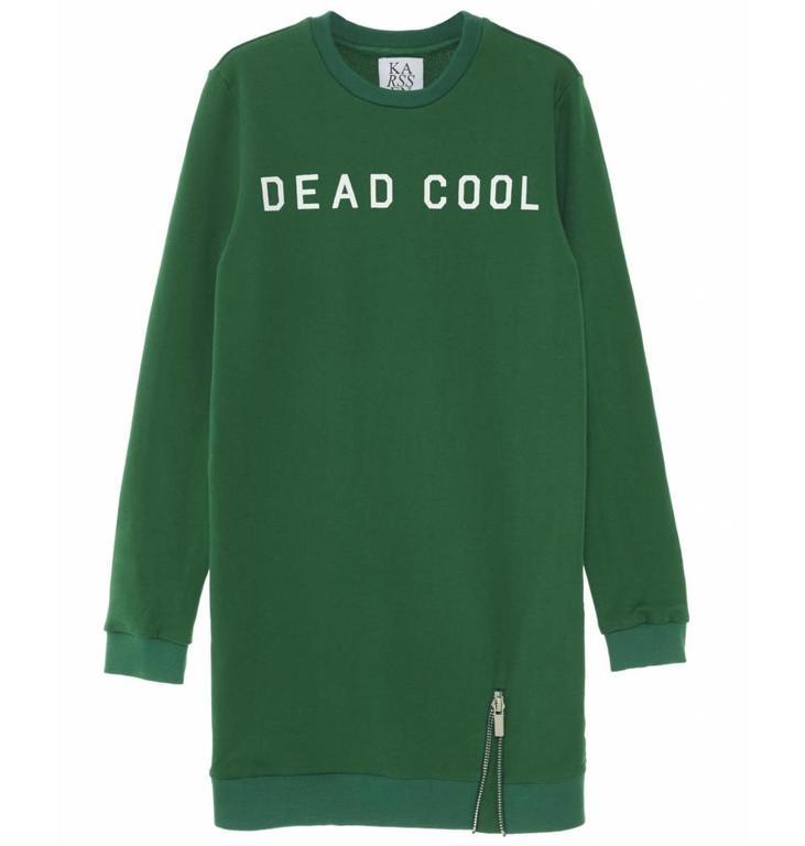 Zoe Karssen Green Dead Cool Sweater Dress PF171114