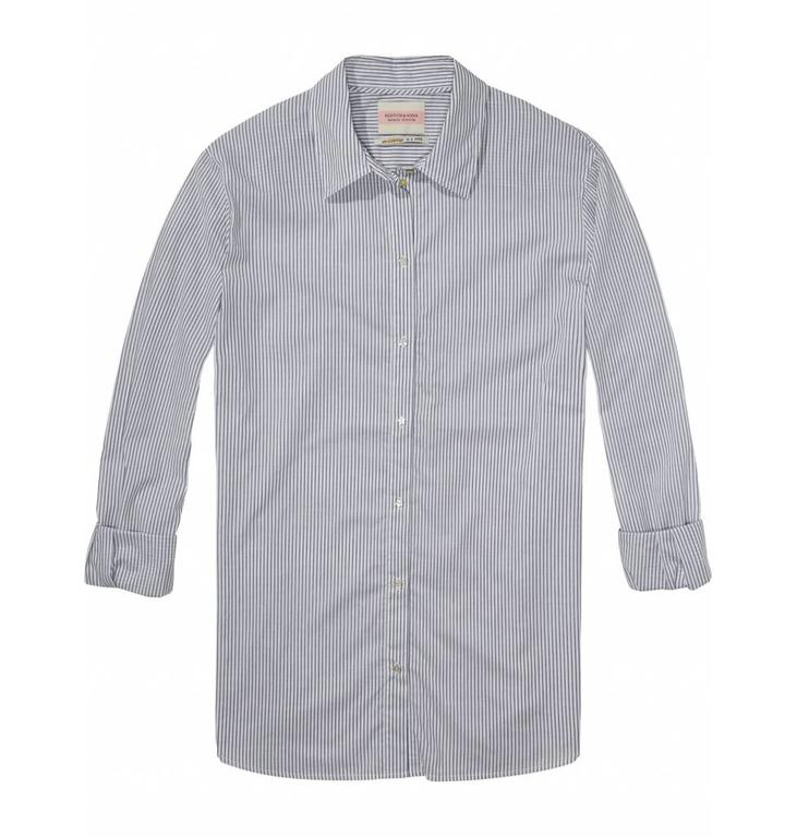 Maison Scotch Soft White/Night Stripe Blouse 136742