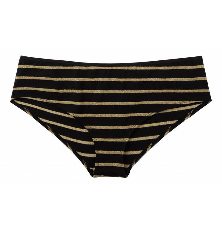 10Days Black Petit Brief Gold Stripe 20.989.7103