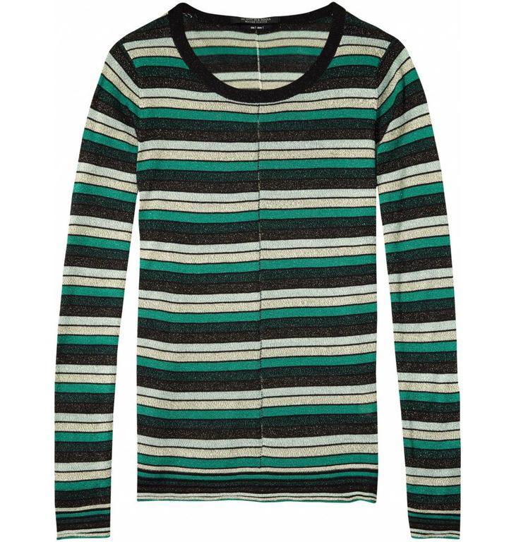 Maison Scotch Green Lurex Knit 132905