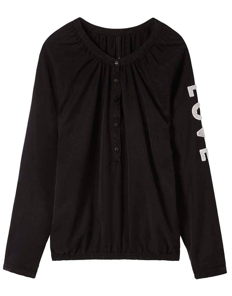 10Days Black Sporty Blouse 20.401.7104