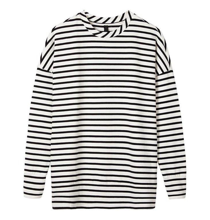 10Days Ecru/Black Sweater Stripe 20.805.7104
