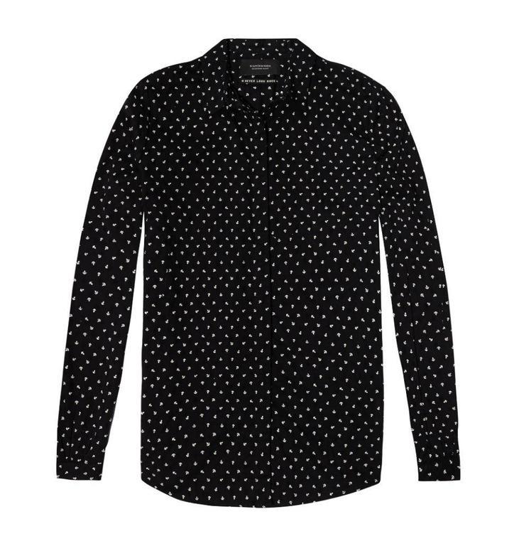 Amsterdam Blauw Black Cotton Shirt 141401