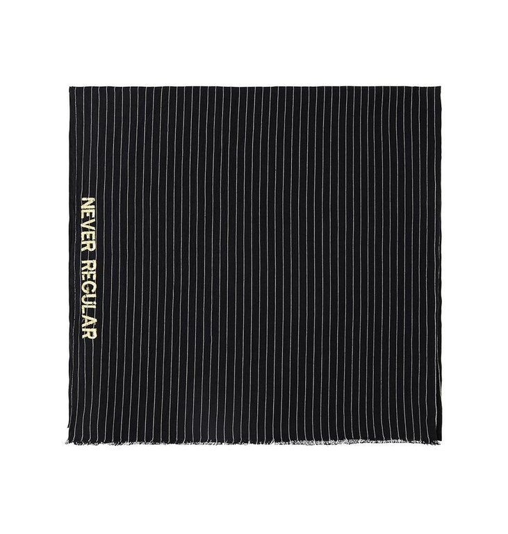 10Days Black/White Thin Stripe Scarf 20.913.8101