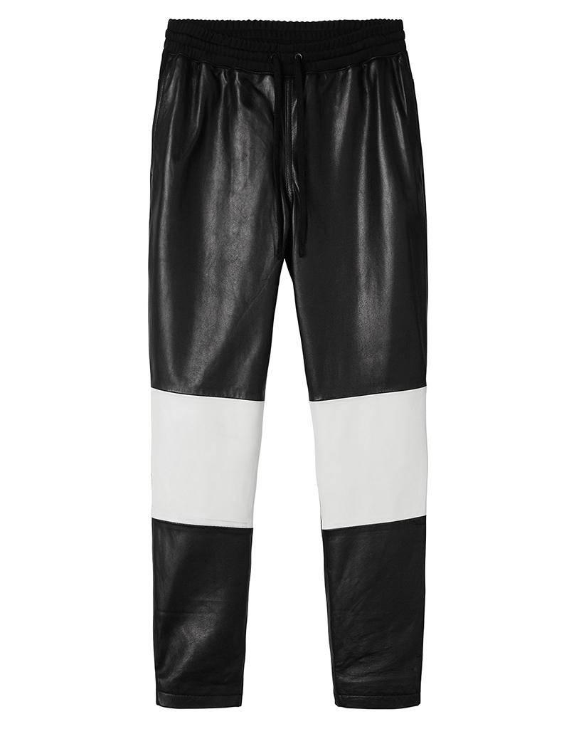 10Days Black Real Leather Banana Pants 20.038.8101