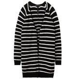 10Days Black /Bone Cardigan Stripe 20.650.8101