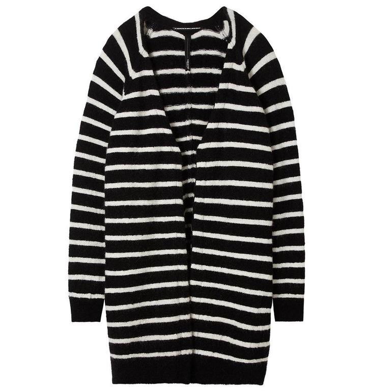 10Days Black Bone Cardigan Stripe 20.650.8101
