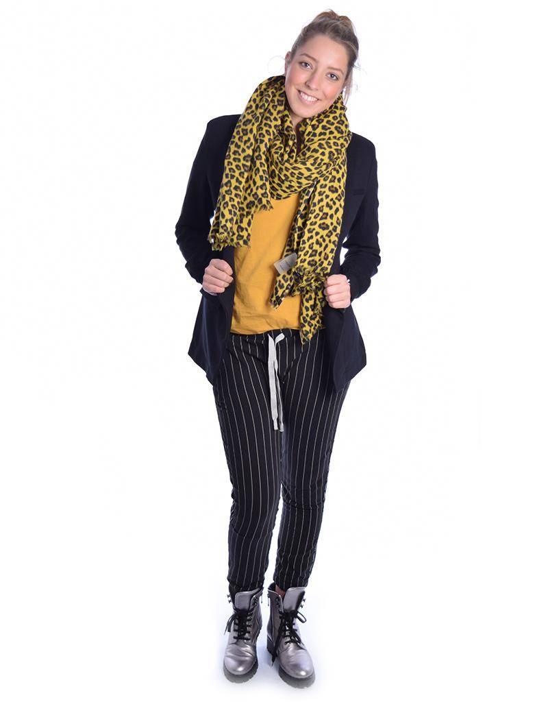10Days Happy Yellow Scarf Leopard 20.911.8101
