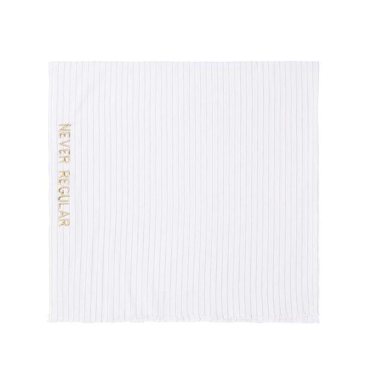 10Days Ecru /Dirty Grey Thin Stripe Scarf 20.913.8101