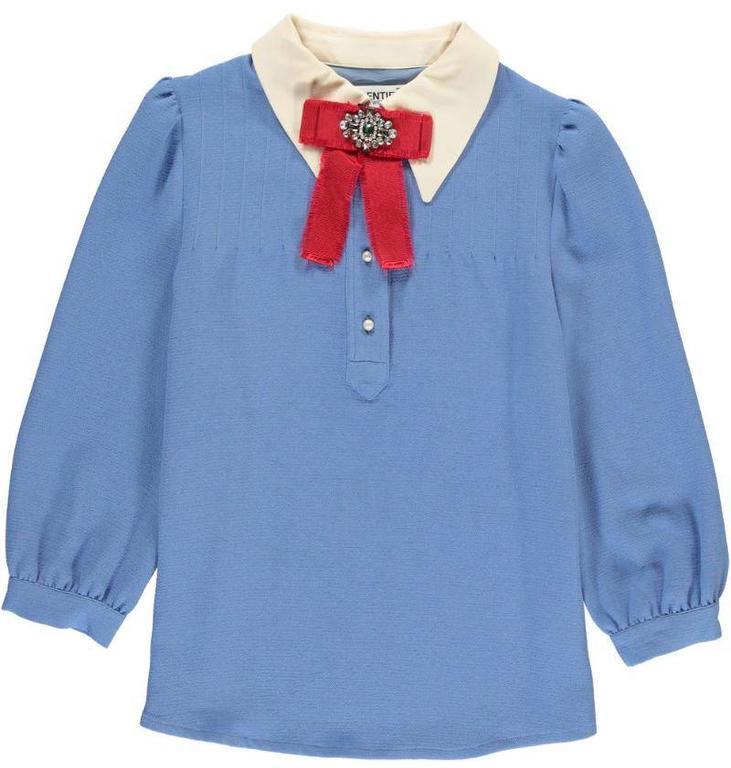 Essentiel Sky Blue Ballroom Crepe Sweater Papyrus
