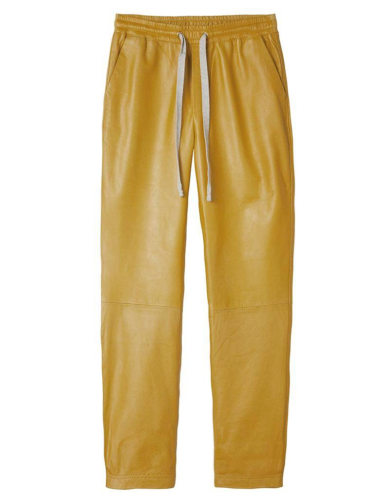 10Days Yellow Real Leather Jogger 20.076.8101