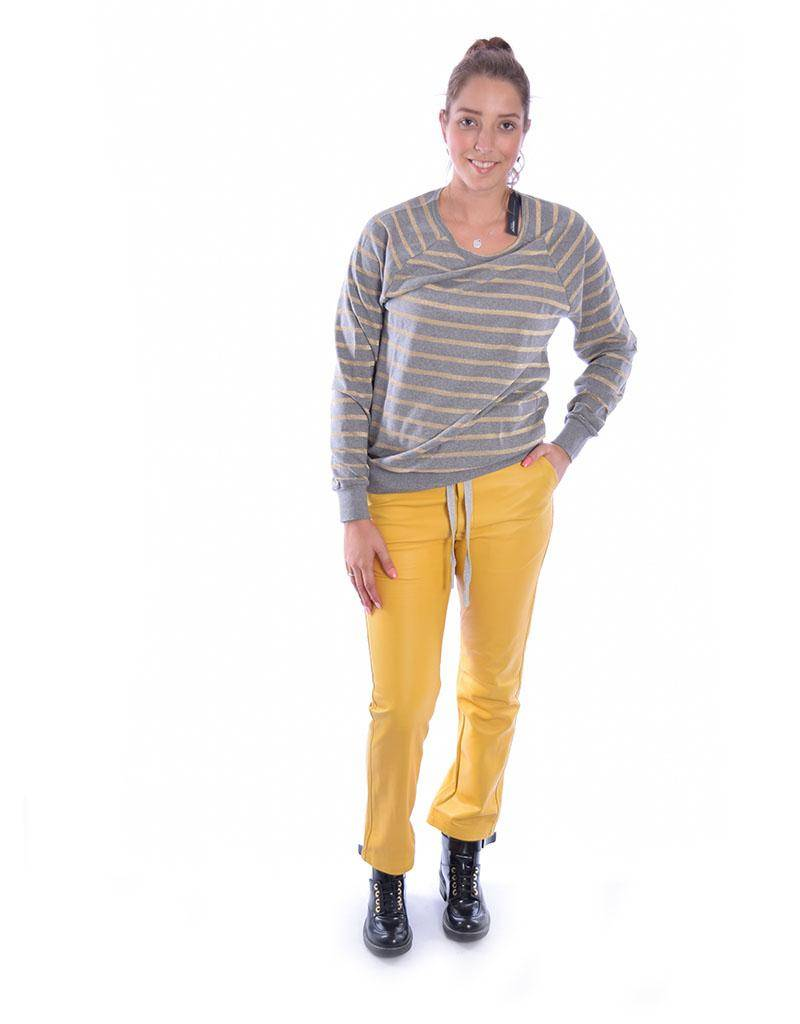10Days Grey Melee /Gold Thin Sweater 20.774.8101