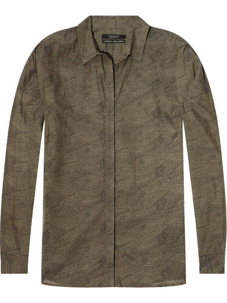 Amsterdam Blauw Green Printed Shirt 141410