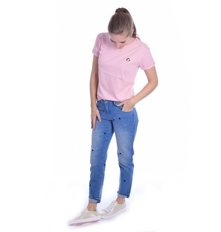 Amsterdam Blauw Pink Felix Tee 141456