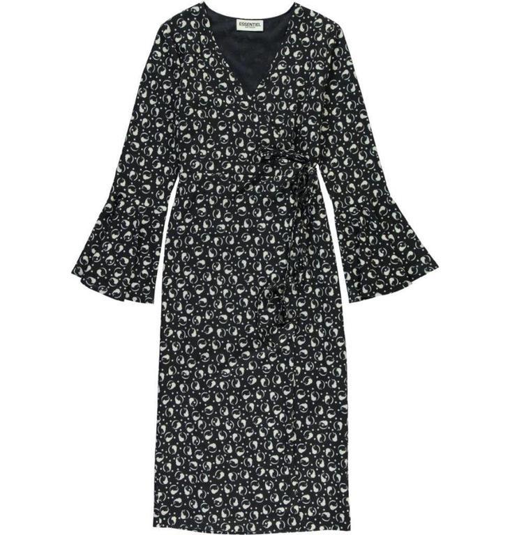 Essentiel Black/White Aristo Dress Perfection