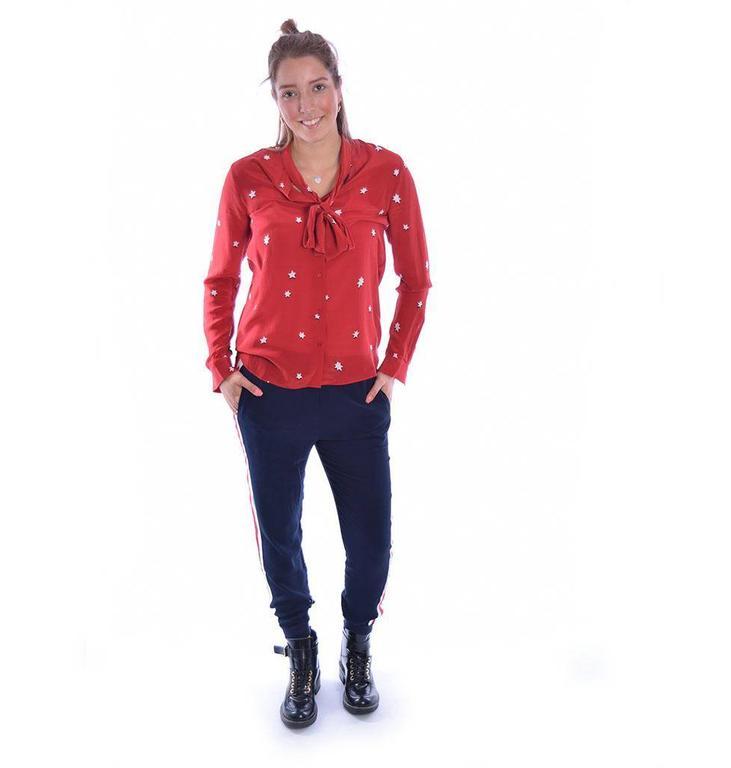 Zoe Karssen Red Blouse PS18 1303