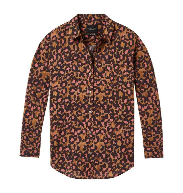 Maison Scotch Brown Relaxed Fit Shirt 143395