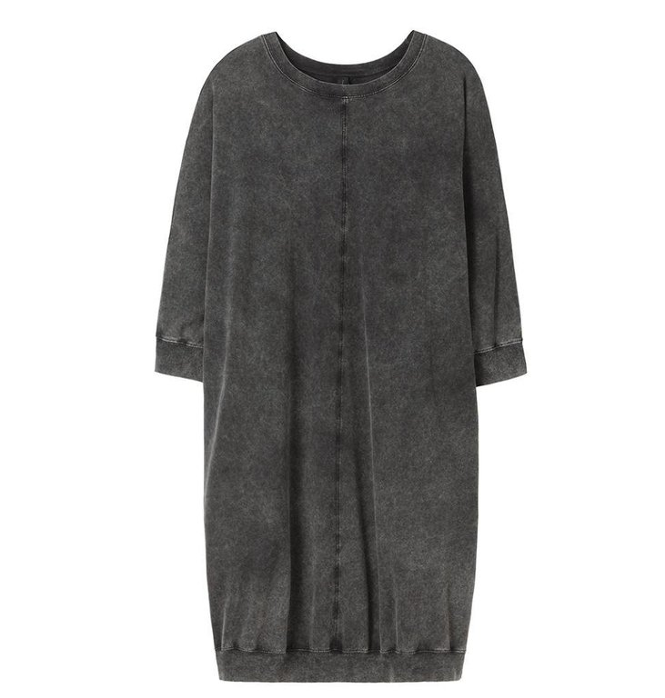 10Days Charcoal Dress 3/4 Sleeve 20.330.8101