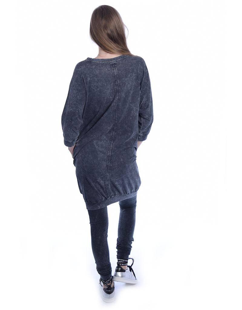 10Days Charcoal Dress 3/4 Sleeve 20.330.8101