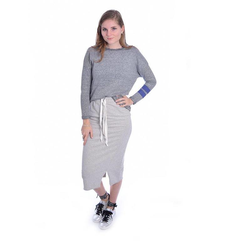 10Days Ecru/Black Longsleeve Mini Stripe 20.782.8101