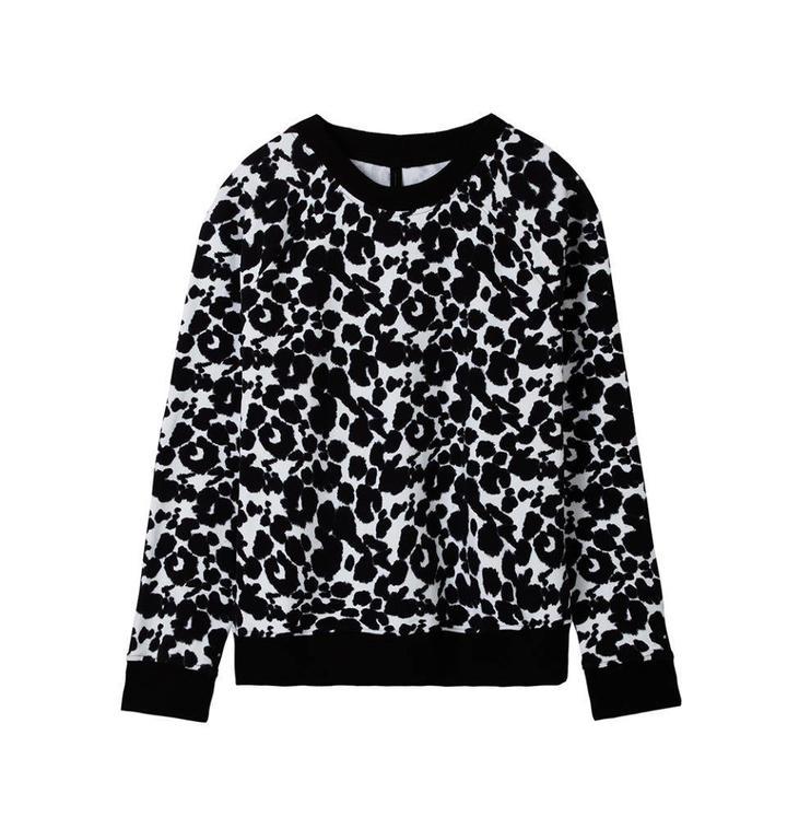 10Days Ecru Sweater Blurry Flower 20.808.8101