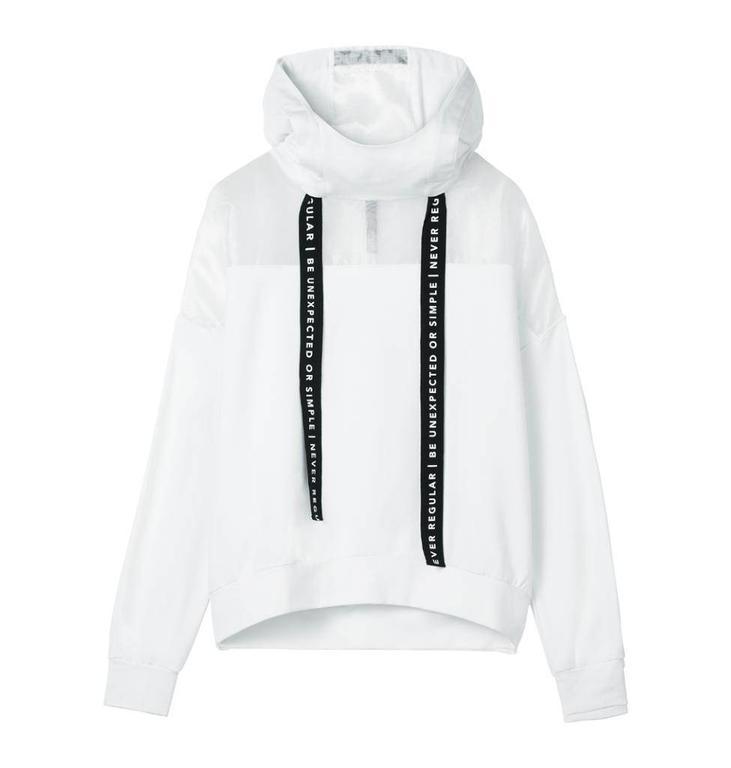 10Days White Oversized hoodie 20.806.8101